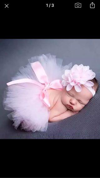 Falda tul bebé reportaje fotografía NUEVO!