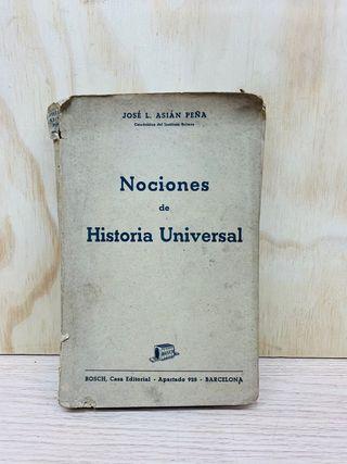 Nociones de Historia Universal. Jose L. Asian peña