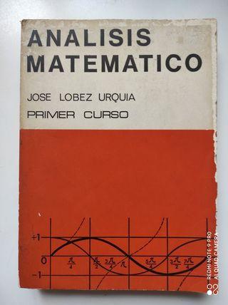Libro Analisis Matemático de Jose Lobez Urquia