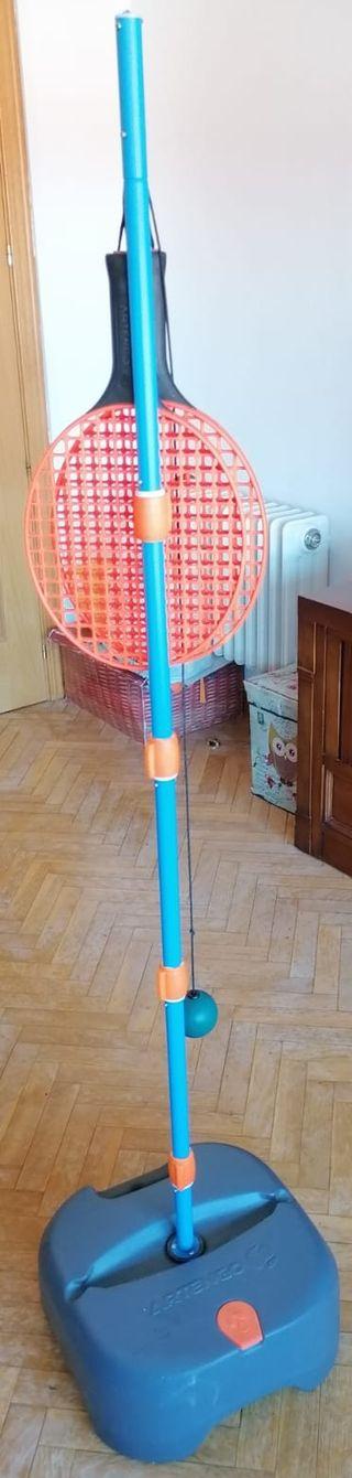 Juego de tenis de entrenamiento