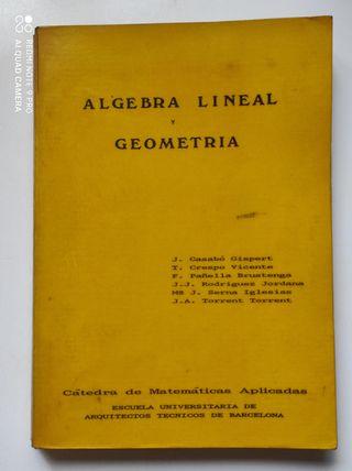 Libro Algebra Lineal y Geometria de J. Casabó
