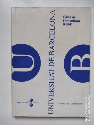 Libro Guia de l'estudiant 94/95 UB