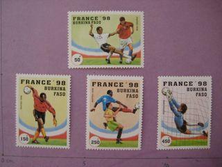 Burkina Faso sellos nuevos 1998 Mundial futbol Fra