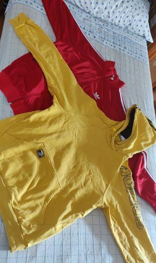 Sudadera con capucha Adidas y chaqueta talla XL