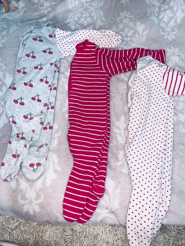 Set of 3 baby grows 0-3 months