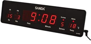 RELOJ CALENDARIO TEMPERATURA DIGITAL 32 CMTRS.