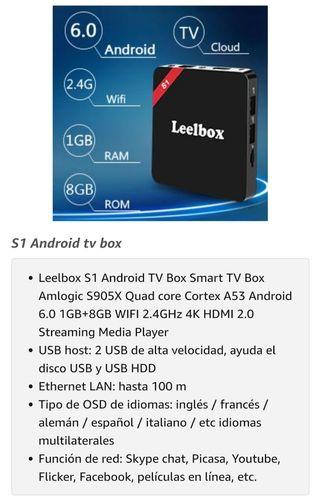 TV BOX ANDROID.(Leelbox S1).