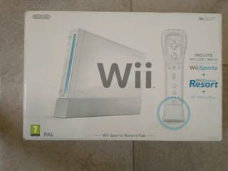 Videoconsola nintendo WII y dos videojuegos