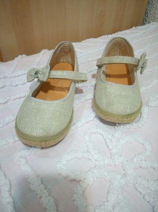 Zapato comunión, tipo alpargata