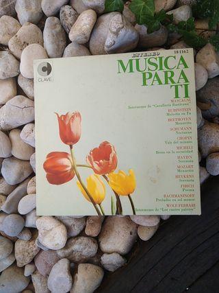 Vinilo. Música clásica. Música para ti.