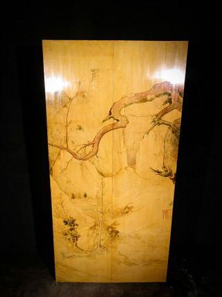 Panel oriental realizado a mano. Finales s.XIX