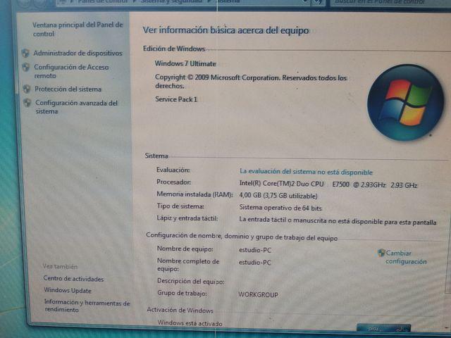 Ordenador torre sobremesa Fujitsu Intel core 2 Du