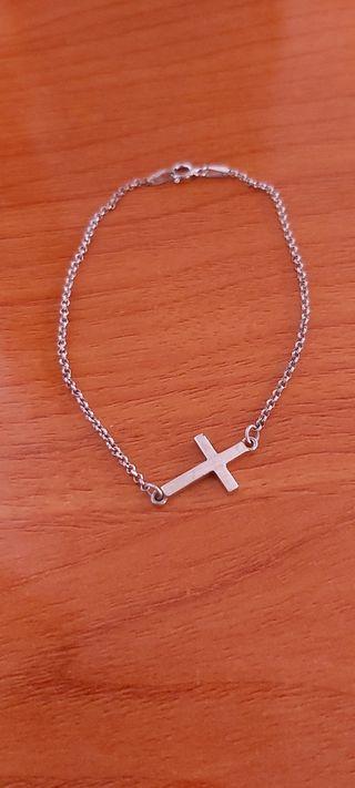 Pulsera de plata 925 con cruz