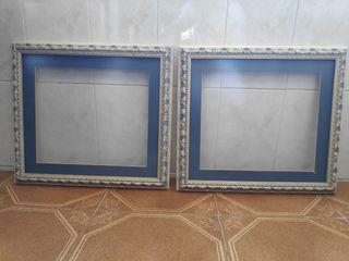 Marcos de madera vintage con cristal