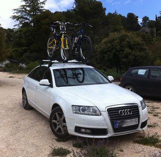 Portabicicletas original Audi para dos bicis
