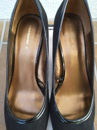 Zapatos de mujer de ante negro