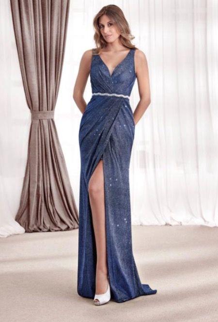 Vestido De Fiesta Azul Brillante Vertize Gala De Segunda Mano Por 180 En Villaviciosa De Odon En Wallapop