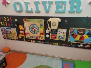 panel de estimulación temprana Montessori