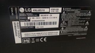 Fuente alimentación y placa base TV Lg 49 pulgadas
