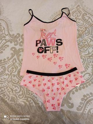 pijama de la pantera rosa talla s