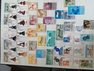 Colección de sellos y billetes