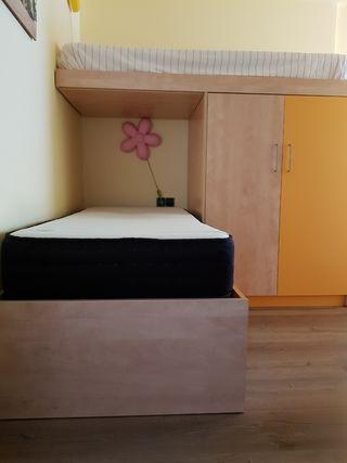 Habitación juvenil 2 camas literas