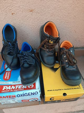 2 pares botas seguridad n.36