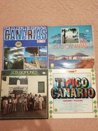 lote lp's folk islas Canarias