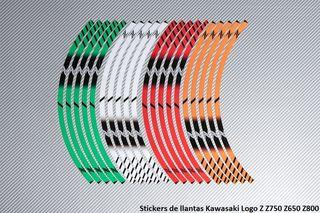 Stickers de llantas Kawasaki Logo Z Z750 Z650 Z800