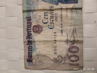 billete de 100 escudos buena conservación