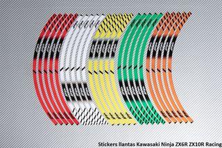 Stickers llantas Kawasaki Ninja ZX6R ZX10R Racing