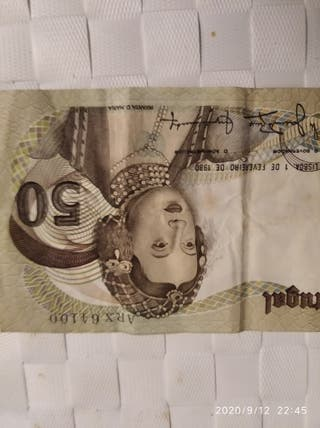 billete de 50 escudos Portugal