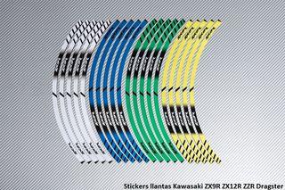 Stickers llantas Kawasaki ZX9R ZX12R ZZR Dragster