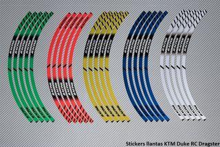 Stickers llantas KTM Duke RC Dragster
