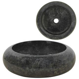 Lavabo de mármol negro 40x12 cm