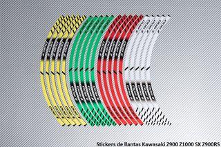 Stickers de llantas Kawasaki Z900 Z1000 SX Z900RS