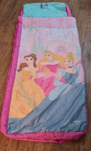 Saco dormir Princesas, hinchable y desenfundable