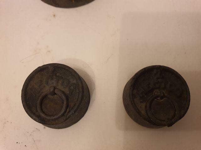 Lote de 11 pesas antiguas originales