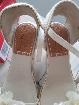 zapatos de Novia de Cuña.