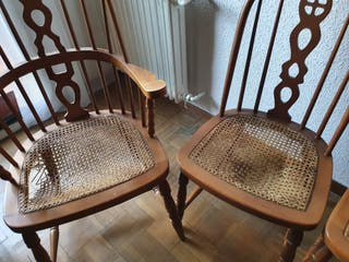 Vendo 6 sillas, dos con reposabrazos