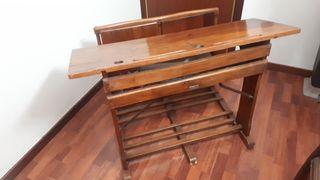 Antigüedad, pupitre escolar doble años 50