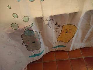 Barra y cortina de baño IKEA