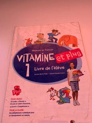 Vitamine et plus 1 Livre de l'eleve