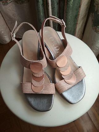 sandalias GIORDA, nuevas sin uso, talla 38, piel