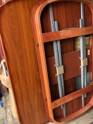 Conjunto de Mesa de madera provenzal con 4 sillas