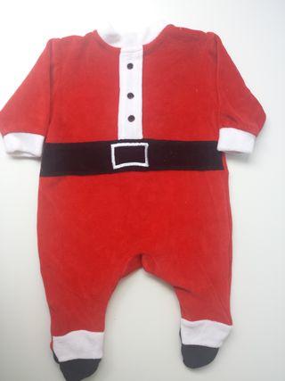 (393) Traje Papá Noel 2-4 meses