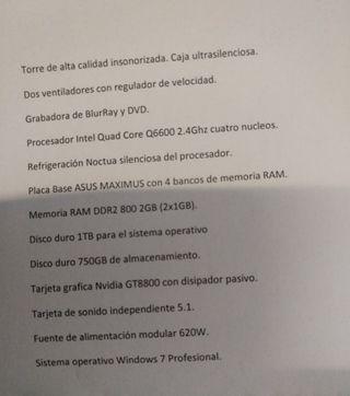 TORRE ORDENADOR CON TECLADO Y MONITOR SAMSUNG
