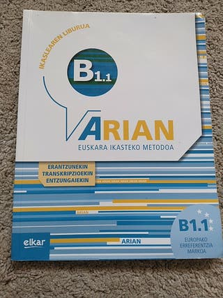 Arian euskara ikasteko metodoa B1.1 Elkar