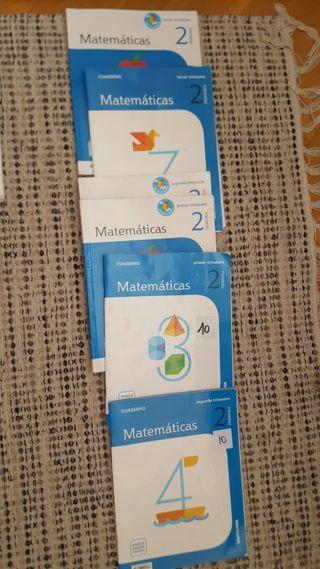 Libros de matemáticas de 2° primaria, usado