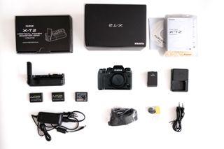 Fujifilm X-T2 con Empuñadura / Grip y 3 baterias